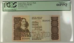 1982-85 No Date South Africa 20 Rand Bank Note Scwpm 121c Pcgs 66 Gem New Ppq