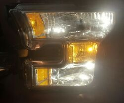 Ford F150 Lh Led Chrome Headlight 15 16 2015 2016 Used For Parts Damage