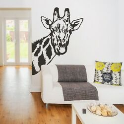 Giraffe Head Wall Decal Animal Inspired Vinyl Family Removable House Art Decor
