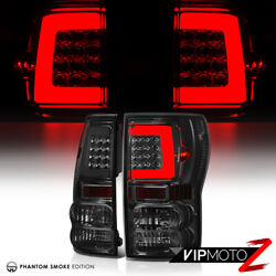 [smoked Lens] Fiber Optic Led Tail Lights For 07-13 Toyota Tundra Pick Up Truck