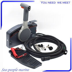 Outboard Remote Control Box W10Pin Cable Right Side PUSH Throttle For Yamaha *
