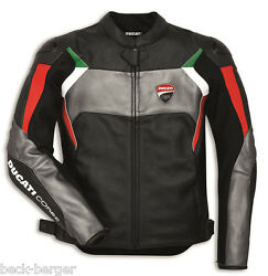 Ducati Dainese Corse C3 Leather Jacket Perf. Black Grey