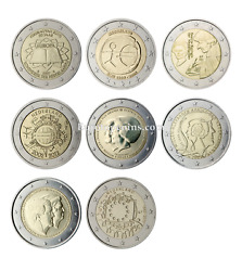 Rm 2 Euro Commemorative Netherlands 2007-2015 - All Pieces - Please Choose