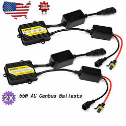 Pair 12v 55w Ac Canbus Slim Ballast Error Free Fit For Auto Hid Conversion Kit