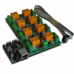 Eight8 Channel Relay Module Board For Home Automation - Lan, Ethernet, Ip, Web