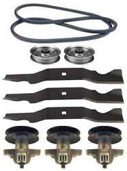 Toro Lx500 Sl500 Gt2100 Mower Deck Parts Kit Spindles Blades Belt Free Shipping