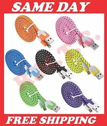 Lot Micro Usb Charger Cable Android 3 6 10 Ft Cell Phone Data Sync Cord Samsung