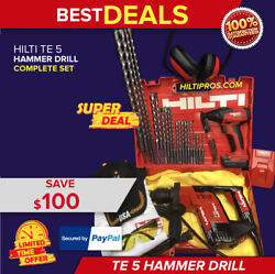 Hilti Te 5 Hammer Drill, Preowned, Free New Sid 2-a Drill, Extras, Quick Ship