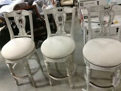 3 Frontgate Promenade Distressed Grey Barstool Counter Height 31 Stool Bar Chair