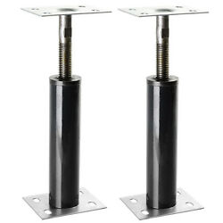 Adjustable Floor Jack Post 2pc Lift Support Stair Porch Deck Construction Tool