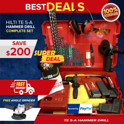 Hilti Te 5-a Hammer Drill, Preowned, Free Angle Grinder, Bits, Quick Ship