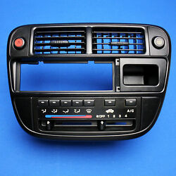 Reman 1996-1998 Honda Civic Climate Control Switch Radio Bezel AC Heat Temp Vent