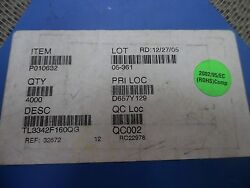 NEW LOT OF X 3225 E-SWITCH TL3342F160QG SWITCH TACTILE SPST-NO 0.05A 12V
