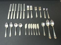 45 Pieces Antique Whiting Madame Jumel Sterling Silver Flatware