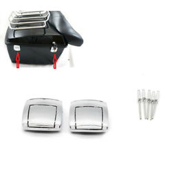Chrome Rear Trunk Tour Pak Premium Latches For Harley Road King FLHR 95-2013