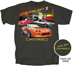 Chevrolet Camaro 3rd Gen Service Menand039s T-shirt Gray Z/28 Iroc-z Rs Usa1 Pace Car