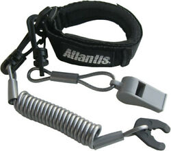 Atlantis Pro Floating Wrist/jacket Lanyard With Whistle Red A2103pfw