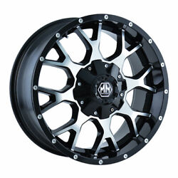 Mayhem 8015 Warrior 20x9 8x180 Offset 18 Black W/machined Face Quantity Of 1