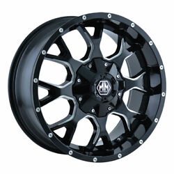 Mayhem 8015 Warrior 18x9 8x180 Offset 18 Black W/milled Spokes Quantity Of 1