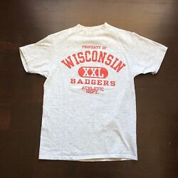 Vintage Wisconsin Badgers Property Of Athletic Dept. T Shirt Mens M Fits S Usa
