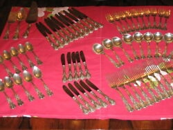 Reed & Barton Sterling Silver 77 Pc. Flatware 128.07 oz+ Outstanding Melt Value!