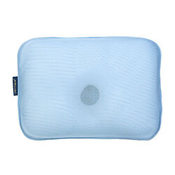 Gio Pillow Infant Newborn Baby Pillow For Prevent Flat Head - Ice Blue