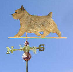Norwich Terrier Hand Carved Hand Painted Basswood Dog Weathervane Grizzle