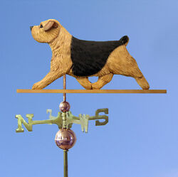 Norfolk Terrier Hand Carved Hand Painted Basswood Dog Weathervane Black