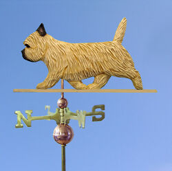 Cairn Terrier Hand Carved Hand Painted Basswood Dog Weathervane Wheaten