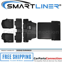 Smartliner Floor Mats For Dodge Durango 2013-2016 Black A0127/b0071/c0071/d0113