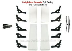Freightliner Cascadia Fairing And Bracket Whole Set + Emblem   Windshield Wipers