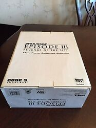 Star Wars Code 3 Movie Poster Collectible Sculpture Revenge Of The Sith Nib New