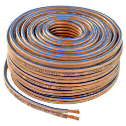 Car Home Audio Speaker Wire Transparent Clear Cable 12awg 50ft 12/2 Gauge