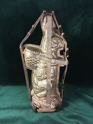 Large Standing Easter Rabbit With Basket On Back Chocolate Hinged Book Mold