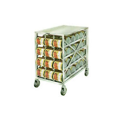 Lakeside 458 Stainless Steel Mobile Can Storage And Dispensing Rack