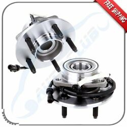 Pair New Front Wheel Hub Bearing Assembly Fits F-150 Heritage F-150 4x4 W/abs