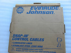 New OMC Johnson Evinrude 173126 Remote Control Snap-In Cable HE 26' Outboard