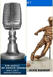Dodgers Jackie Robinson Statue And Vin Scully Microphone Sga Free Magnet Schedule