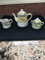 Spode Albany Sugar Bowl With Lid And Creamer S3670 Discontinued Tea Pot Too