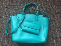NWT Vera Bradley Teal Tote with Matching Ultimate Wristlet
