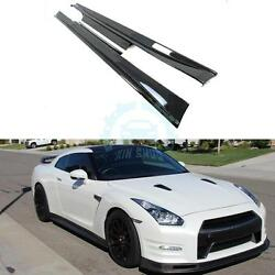 Auto Side Skirt Body Kits Replacement  For Nissan GTR R35 2008-2017 Carbon Fiber