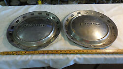 Two Ford Deluxe 1952 15 Hubcap Wheel Cover Polished Chrome And Black