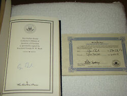 George H W Bush Signed Speaking Of Freedom Book 2009 Easton Press Coa Autograph
