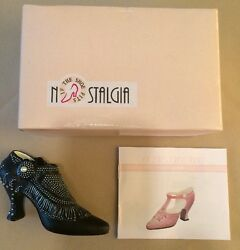 Collectible Shoe By Nostalgia If The Shoe Fits Nib Vd107 Black Victoria Shoe