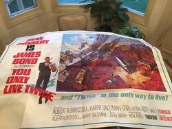 You Only Live Twice James Bond 1967 Subway Poster Mint 45 By 59 Volcano