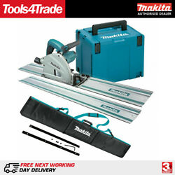 Makita Sp6000j1 240v 165mm Plunge Saw With 2 X 1.5m Rails, Connector Bar And Bag