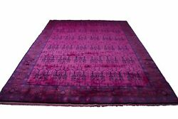 9andtimes12 Luxury One Of A Kind Hot Pink Rug Overdyed Chinese Art Deco Living 2891