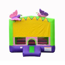 Commercial Grade Glittery Butterfly Bounce Party House 100% PVC Size 15'x15'