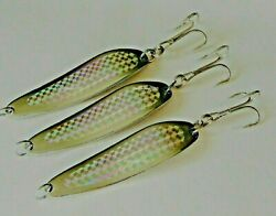 1 To 10 Pcs Casting 5oz Crocodile Spoons Silver Holographic Saltwater Fish Lures