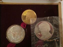 Zeev Jabotkinsky Centenary 1980 Set Of Commerative Coins Gold And Silver